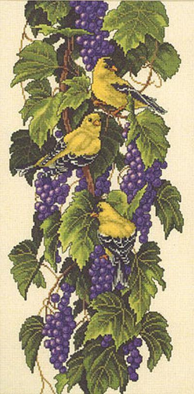 """Схема вышивки """"Виноградная"""