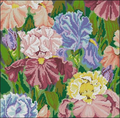Iris Paradise Needlepoint