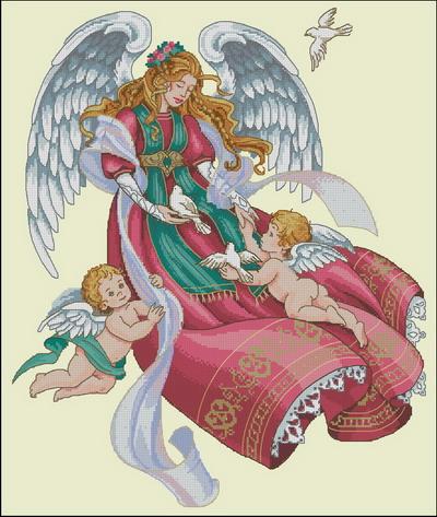 Рхема вышивки крестом 'Ангел с