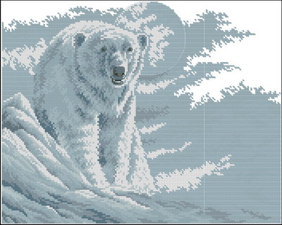 Белый медведь Dimensions