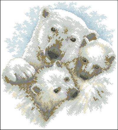 Медведица с медвежатами Dimensions
