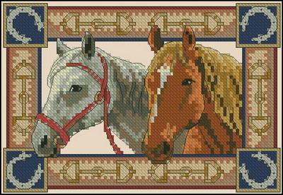 Две лошади Dimensions