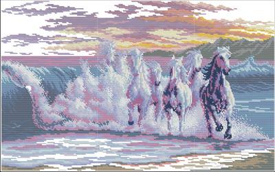 Лошади из морской пены Dimensions