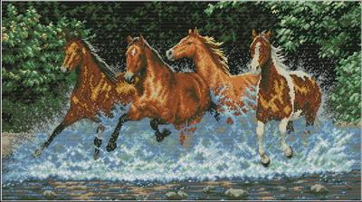 Бегущие лошади Dimensions