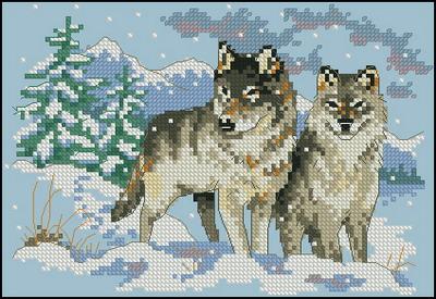 Два  волка Dimensions