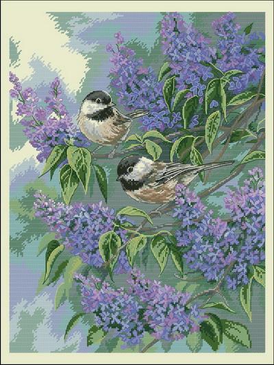 Птицы (воробьи) Rosemary Millette Dimensions