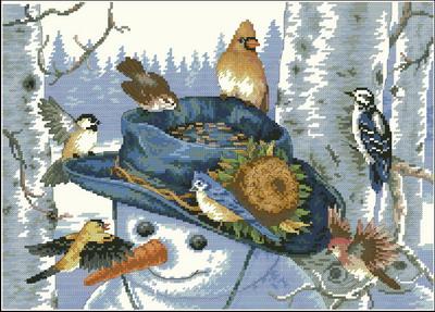 Снеговик и птицы Dimensions