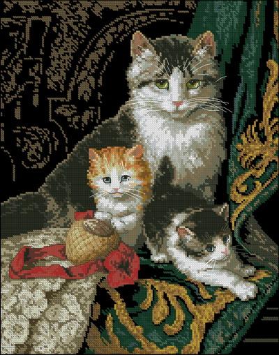 Кошка с котятами Dimensions