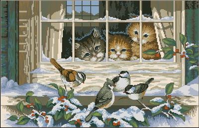 Котенок за окном Dimensions