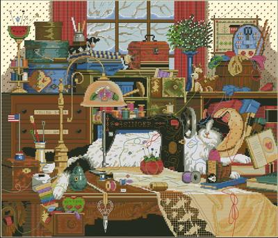 Кошка Мэгги спит (Gold Collections) Dimensions