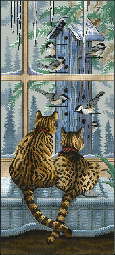 Два кота на окне Dimensions