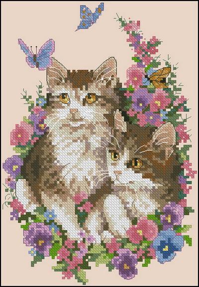 Котята и бабочки Dimensions