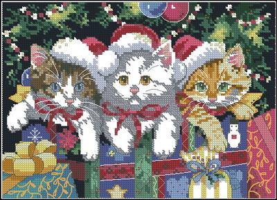Три рождественских котенка Dimensions