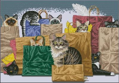 Кошки в пакетах Dimensions
