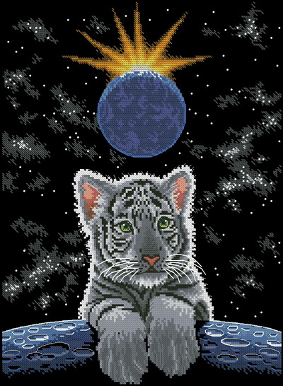 Тигр Dimensions · Белый тигр
