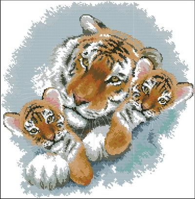 Тигрица и тигрята Dimensions