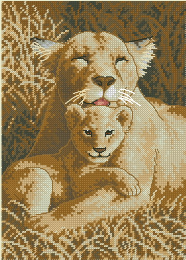 Львица и львенок  Dimensions
