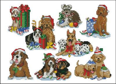 Рождественские собаки Dimensions