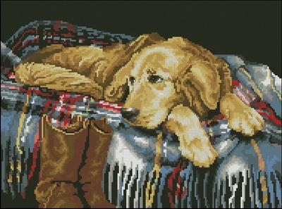 Собака на кровати Dimensions