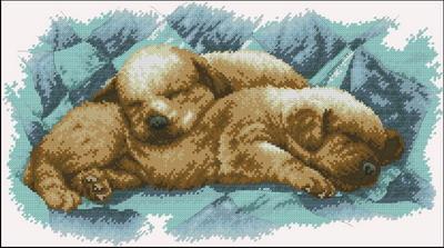 Спящие щенки Dimensions
