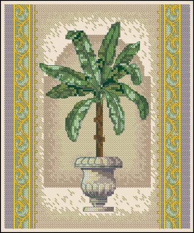 Цветы пальма в горшке Dimensions