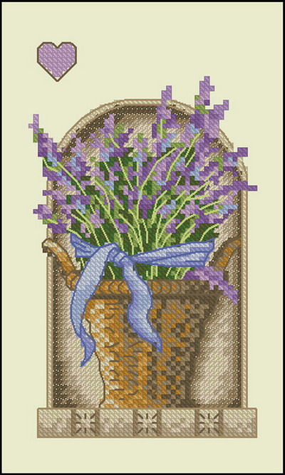 Цветы лаванда Dimensions
