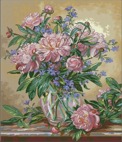 Цветы пионы Dimensions