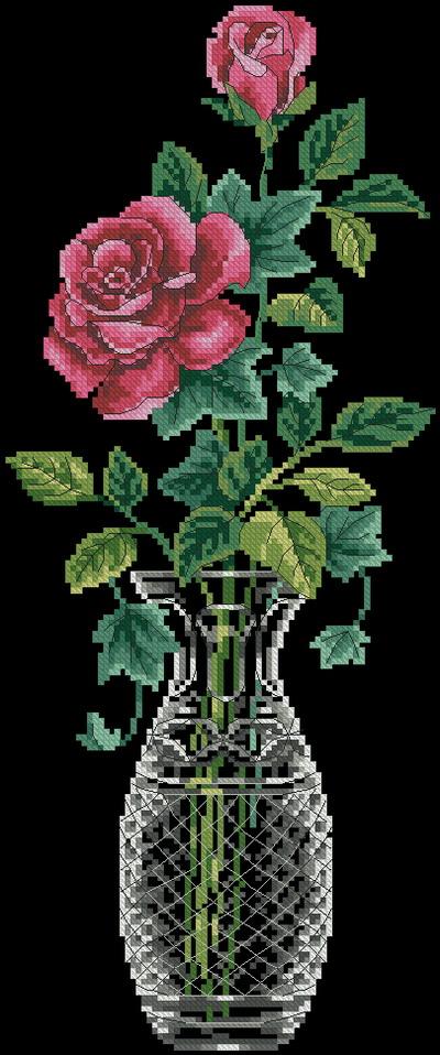 13 цветов DMC, Aida 14 Black