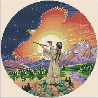 Индейцы. Церемония нового дня Dimensions