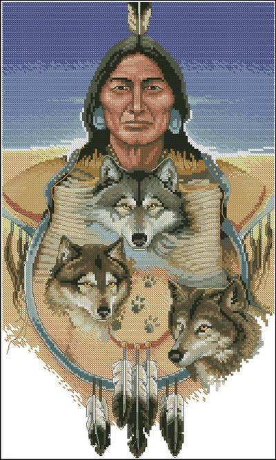 Индейцы. Три серых волка  Dimensions
