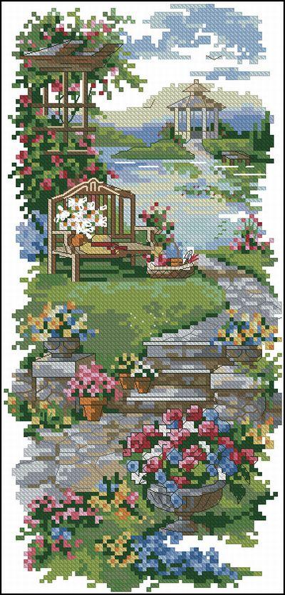 Пейзаж в саду Dimensions