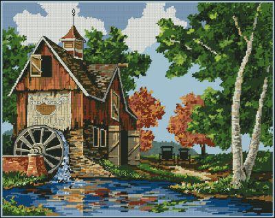 Пейзаж сельский домик
