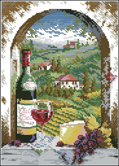 Пейзаж Тосканский вид Dimensions