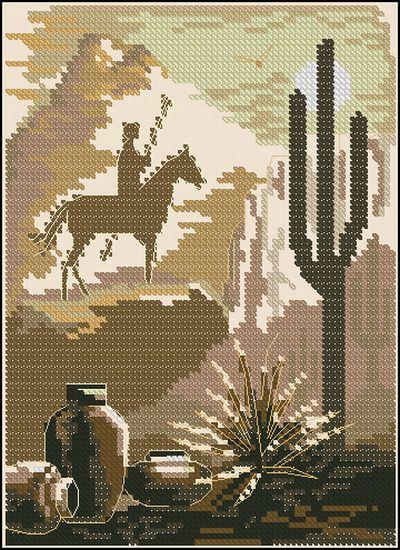 Пейзаж в пустыне Dimensions