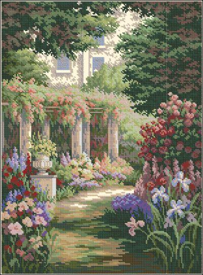 Пейзаж сад в цветах Dimensions