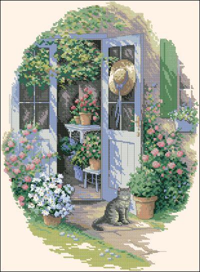 Пейзаж дверь в сад Dimensions
