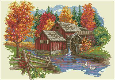 Осенний пейзаж Dimensions