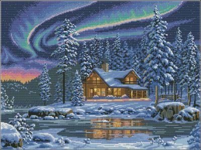 Пейзаж Северное сияние Dimensions