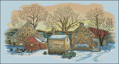 Зимний пейзаж Dimensions