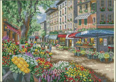 Пейзаж Парижский рынокDimensions