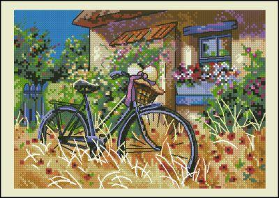 Пейзаж велосипед у дома Dimensions