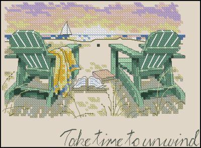 Пейзаж Шезлонги на пляже Dimensions