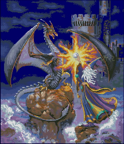 Волшебник и дракон Dimensions