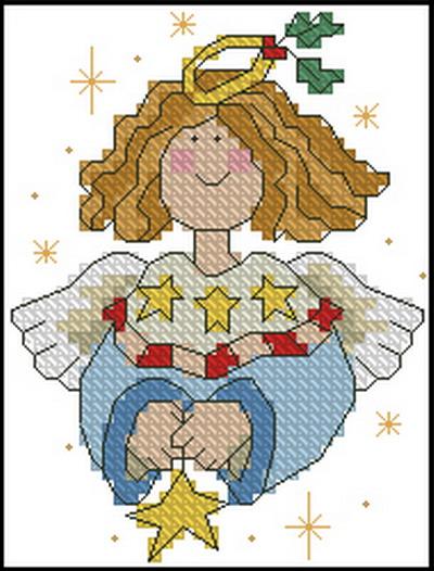 Звездный ангел схема вышивки крестом 5
