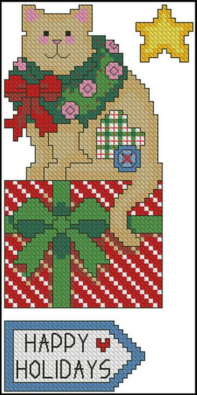 Рождественская кошка Dimensions