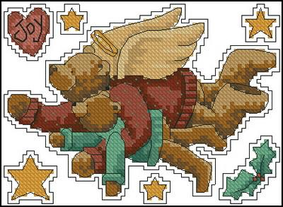 Рождественcкий мишка Тедди Dimensions