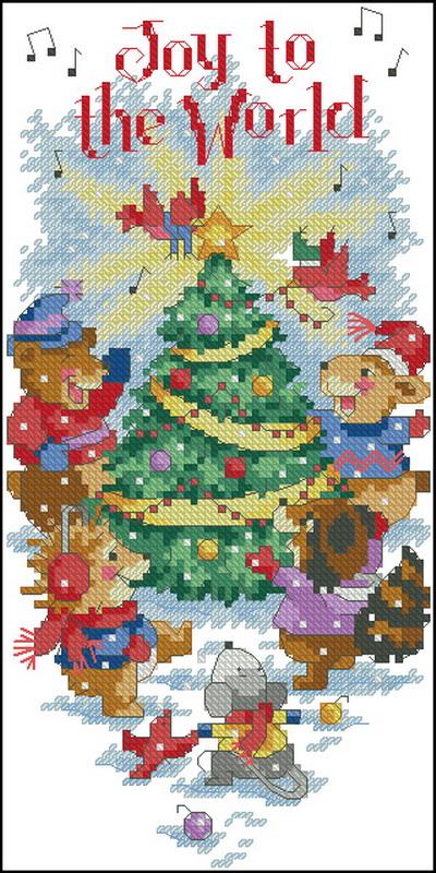 Рождественские мышки Dimensions