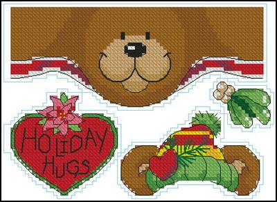 Рождественский медведь Dimensions