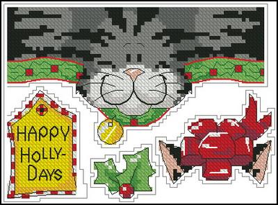 Рождественский котенок Dimensions
