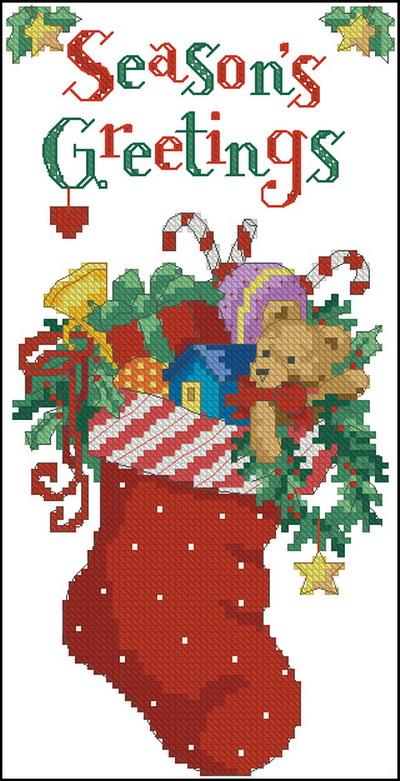 Рождественский носок Dimensions